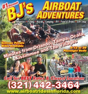 BJ'S Airboat Adventures Deli Opening Bushnell Florida